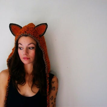 Fox Hood by OliviaRoyale on Etsy