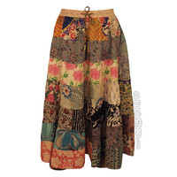 Overdyed Tiered Patchwork  Skirt on Sale for $29.95 at HippieShop.com
