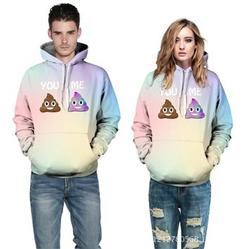 Emoji Hoodies 3D Star Sweatshirts Swag Clothes For Teenage Unisex Sport Womens Hoodies Pullover Women Tracksuit Jogging Moleton