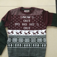 New-arriving Ugly Christmas Sweaters with 'Snow's Out HO HO HO's Out'