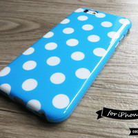 Baby Blue Polka Dot iPhone 6 Case - CocoonByWanderlustique
