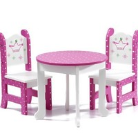 "18 Inch Doll Furniture Fits American Girl Dolls - 18 "" Wish Crown Table and Chairs"