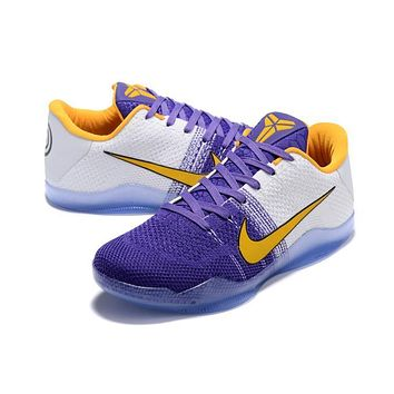 Nike Kobe Xi Elite Purple/white Basketball Trainers Size Us7-12 - Beauty Ticks
