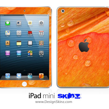 Orange Watered Leaf iPad Skin