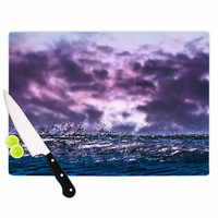 "Colin Pierce ""Grape Drops"" Lavender Magenta Photoraphy Cutting Board"