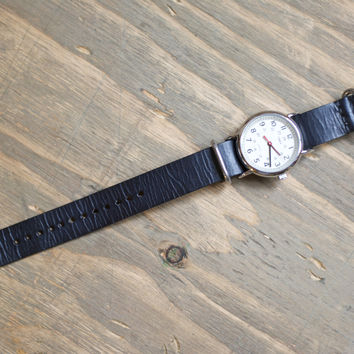 The C. Martin - Black Leather NATO Watch Strap