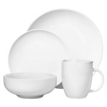 Coupe Dinnerware Set 16-pc. Porcelain White - Threshold™ : Target