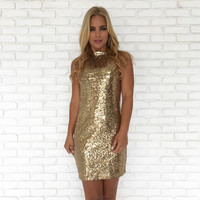 Gold Is Great Sequin Party Dress
