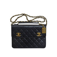 "Chanel ""Mini Briefcase"" Vintage Handbag Clutch"