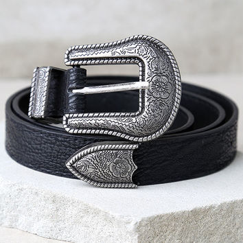 Wandering Wilderness Silver and Black Belt