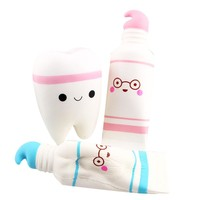 Squish Antistress Kids Toys Simulation Cartoon Squishy Toothpaste Scented Slow Rising Stress Reliever Squeeze Toys for Children
