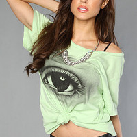 The Jenny Mortsell Eye Boyfriend Tee in Nile Green : Blood Is The New Black : Karmaloop.com - Global Concrete Culture