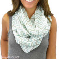 East Point Mint Chevron Infinity Scarf