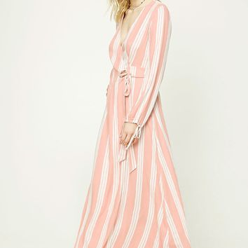 Contemporary Striped Maxi Dress
