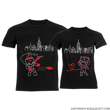 We're Irresistibly Attracted™ His & Hers Matching Couple Shirts Black