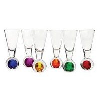 Circleware Bonfire Six Piece Vodka / Shooter Set Shot Glass Set Muli-color