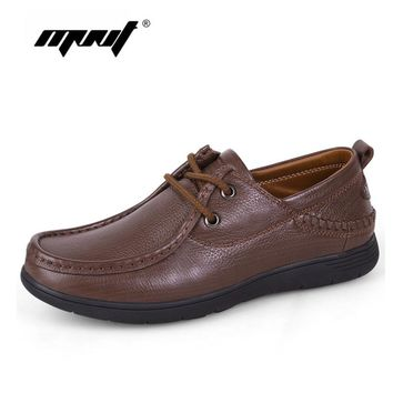 Genuine Leather Men Casual Shoes Luxury Flats Fashion Designer Breathable Outdoor Men Shoes Sneakers Male Footwear