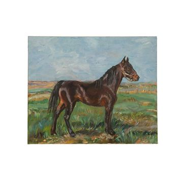 "Grace B. Keogh ""Brown Horse"" Painting"