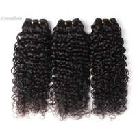 Peruvian Deep Curly Hair 1Pc 100% Human Hair Natural Color 1b