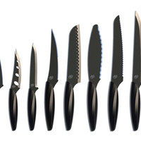 10-Pc Knife Set, Black, Cutlery Knives