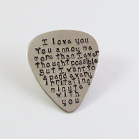 Custom Guitar Pick-Wedding-Anniversary-Music Gift