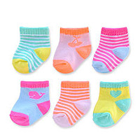 Carter's® Girls 6Pk Computer Socks