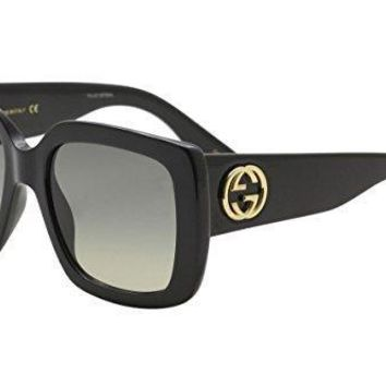 Gucci Gg0141s 001 Black Gg0141s Square Sunglasses Lens Category 2 Size 53mm