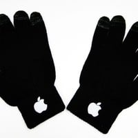 APL Solid Color Touch Screen Gloves - Black