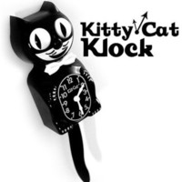 Kitty-Cat Klock Black Kit Kat Clock from Crazy Cats