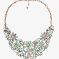 Bejeweled Flower Bib Necklace | FOREVER 21 - 1018076338