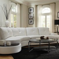 Talia Contemporary Sectional Conversation Sofa