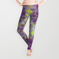 Abstract Cactus Leggings by Sandra Arduini