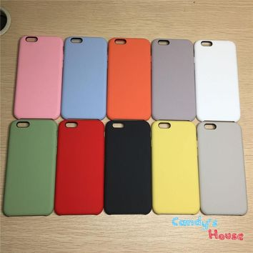 Retail Packing High Quality Silicone Case For iPhone 5 5s se 6 6s 8 X Cover for iPhone 6 Plus 6s 7 Plus Case With Logo