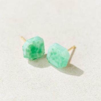 Diament Jewelry X Urban Renewal Green Square Stud Earring