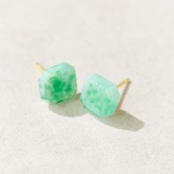 Diament Jewelry X Urban Renewal Green Square Stud Earring- Green One