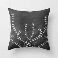 Ivy Throw Pillow Cover Decorative Pillow Home Decor Original Illustration Black Accent Pillow, Black and White Home Decor