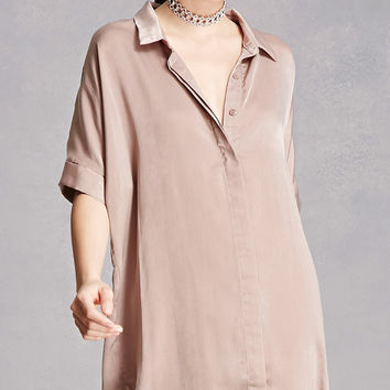 Sheeny High-Low Shirt Dress