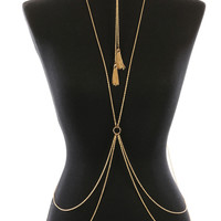 28 Inch Body Chain Tassel Necklace and Body Chain