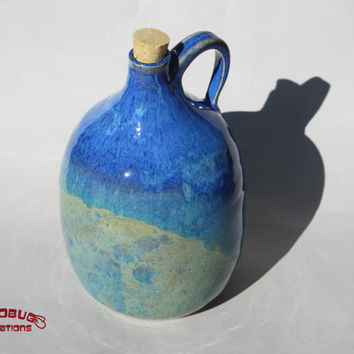 Ceramic Growler - Blue and Green Jug