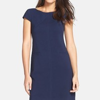 Women's Eliza J Seamed Crepe Shift Dress