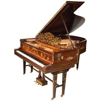 """Art Case Steinway Piano """"Vernis-Martin"""" Masterpiece Owned By Prussian Prince"""