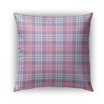 EASTER KIDS PLAID Indoor|Outdoor Pillow By Northern Whimsy