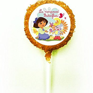 DORA THE EXPLORER BUTTERFLIES White Chocolate Covered Oreo