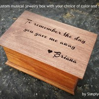 wedding gift box, musical jewelry box, father of the bride gift, music box, jewelry box, wooden music box, gift for Dad, simplycoolgifts