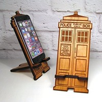 Police Box Mobile Phone Stand Holder For Any Smartphone Fits iPhone and Galaxy Best