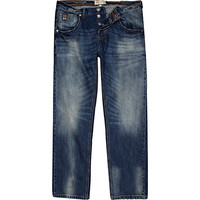 River Island MensBlue mid wash denim Dean straight jeans