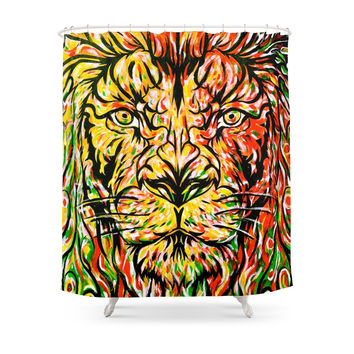 Society6 Lion In Zion Shower Curtain