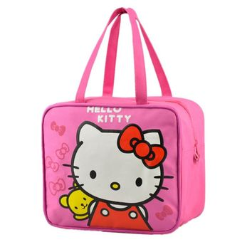 Women kids Thermal Bag For Lunch Hello Kitty Bento Box Travel Picnic Insulated Cooler Thermo Pouch Food Fruit Container Storage