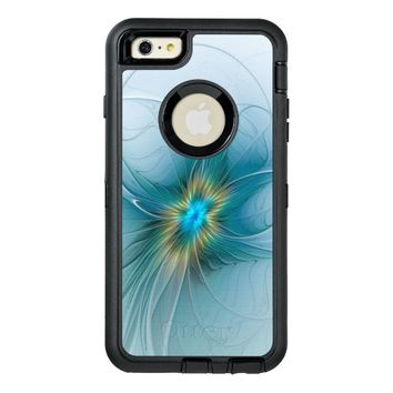 The little Beauty, Abstract Fractal Art with blue OtterBox Defender iPhone Case