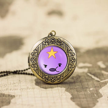 LSP lumpy space princess adventure time vintage pendant locket necklace - ready for gifting - buy 3 get 4th one free